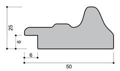 Профиль багета, размеры