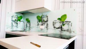 Фартук кухня стекло УФ-печать