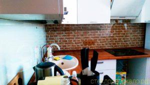 Кухонный фартук из стекла с фотопечатью текстура кирпичи