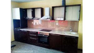 Кухонный фартук из стекла с фотопечатью коричневой