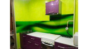 Кухонный фартук из стекла с фотопечатью абстракция