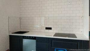 Кухонный фартук из стекла прозрачный
