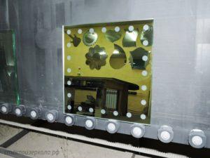 Зеркало с пескоструем со стороны амальгамы