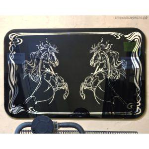Зеркало картина с лошадьми