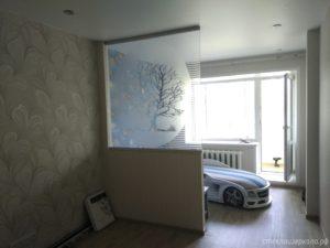 Перегородка из стекла с пескоструйным рисунком