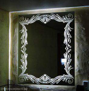Зеркало с подсветкой с обратной стороны зеркала
